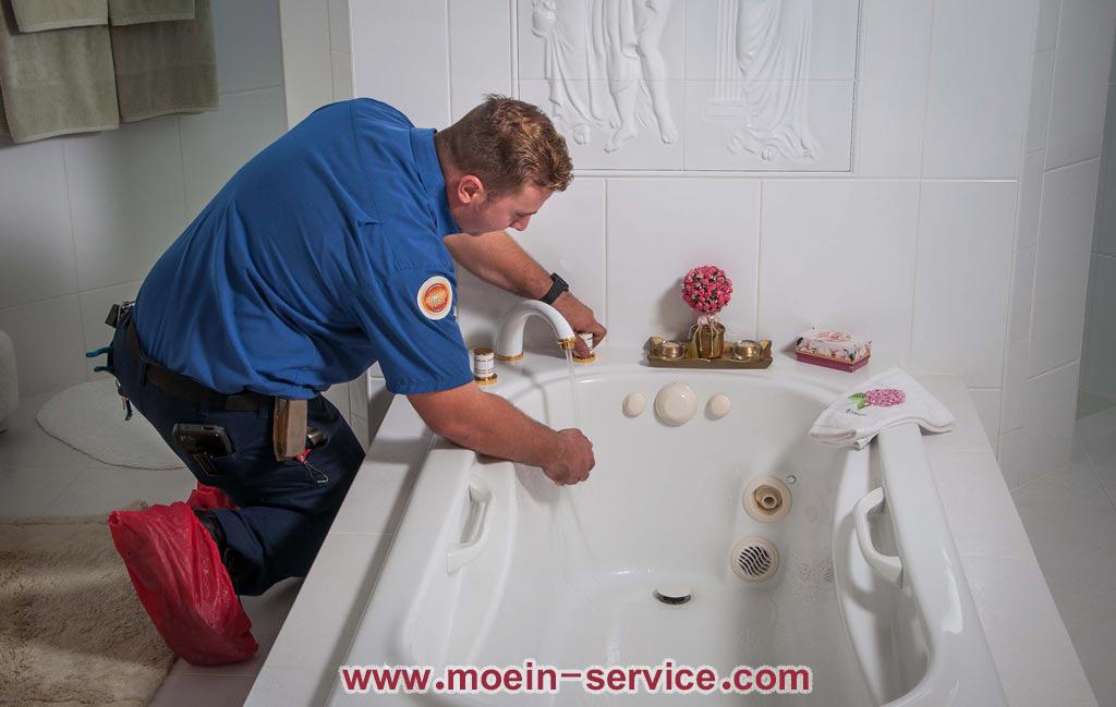 رفع گرفتگی وان حمام (1)