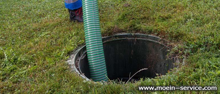 تخلیه چاه با روش پمپ زدن-معین سرویس